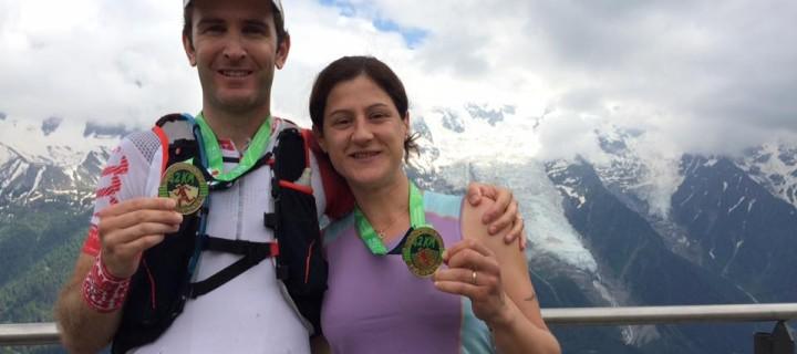 Le Marathon du Mont Blanc 2016 de Bruno Poulenard et son épouse, Beaux Finishers, en vidéo sur Trail Session