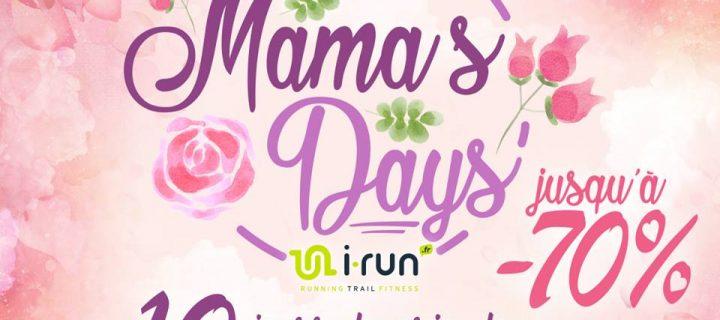 Opération Fête des Mères du 18 Mai au 28 Mai 2017 inclus sur i-Run.fr : Les Mama's Days !