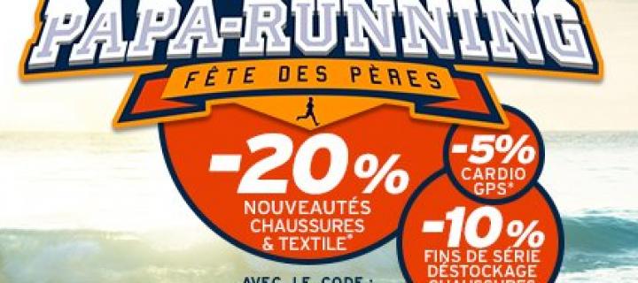 Opération Fête des Pères du 1er au 18 Juin 2017 inclus sur i-Run.fr : Les Papa-Running !
