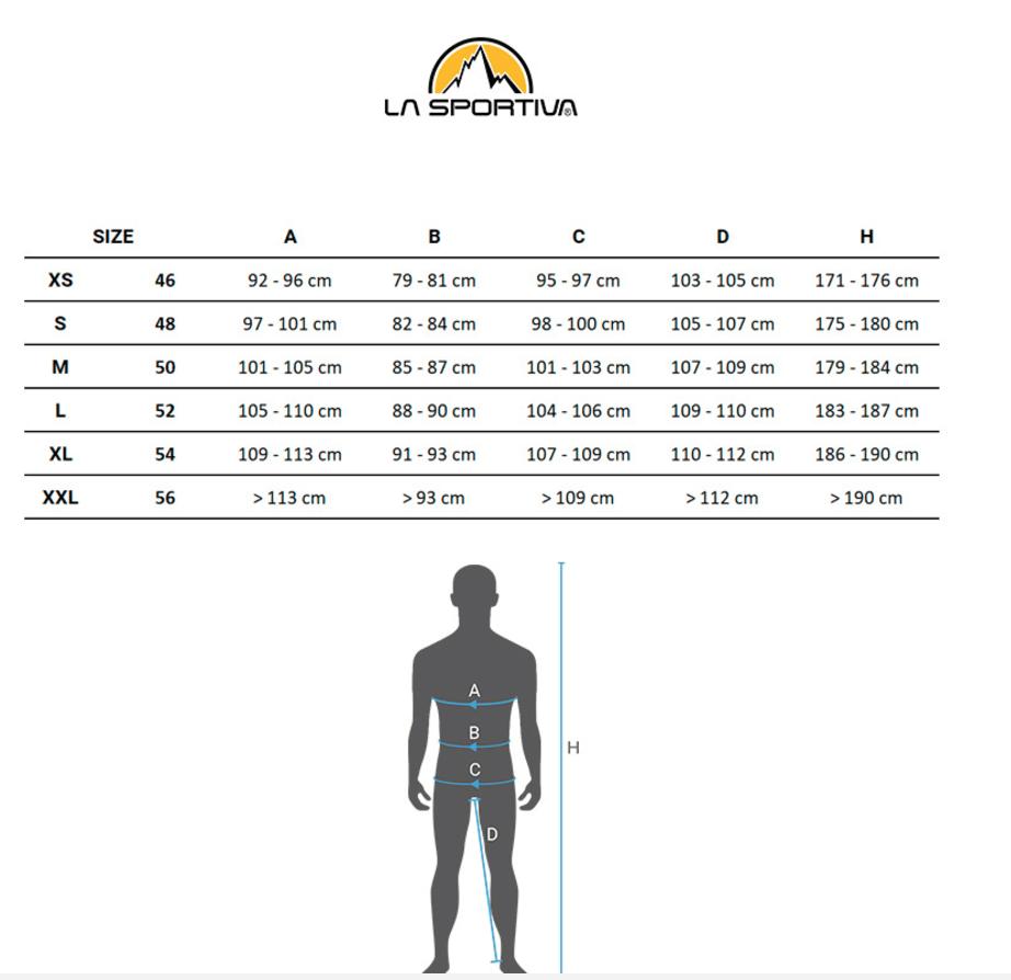 Guide des tailles La Sportiva