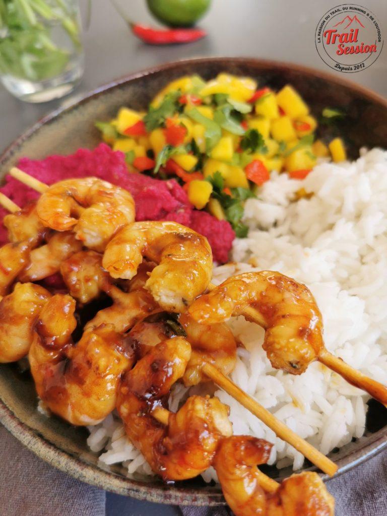 Crevettes caramélisées 1