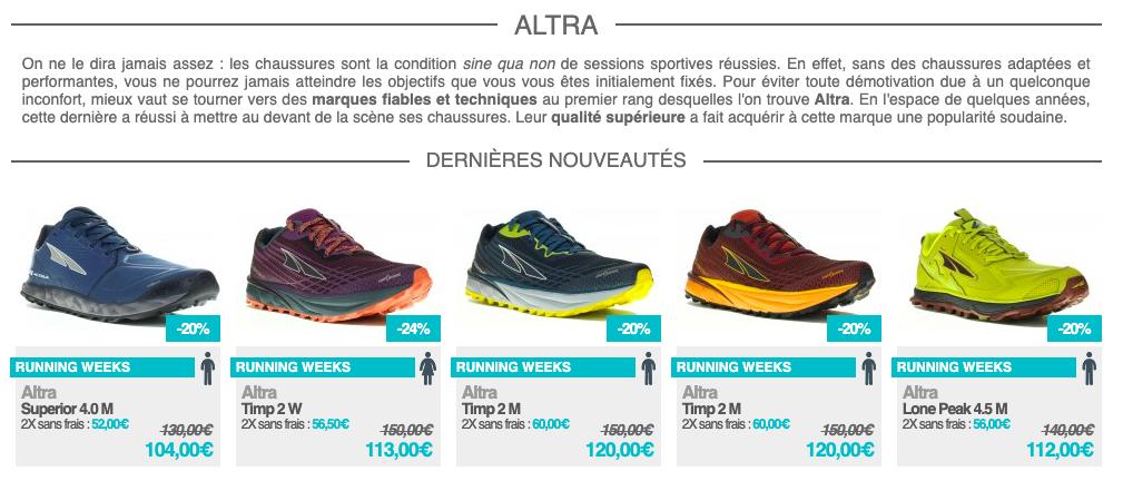 Altra Running sur i-Run.fr