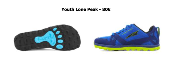 Altra Running pour enfants : Youth Lone Peak
