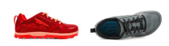 Altra Running pour enfants : rouge et grise