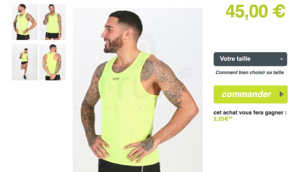 Gore Wear Running Essentials : débardeur chez i-Run.fr