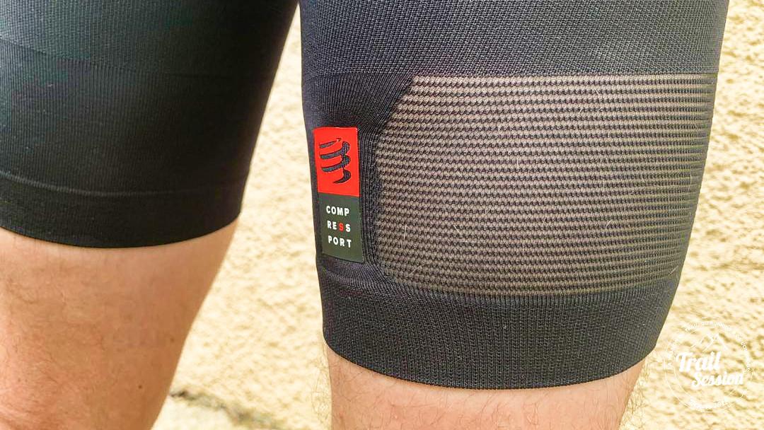 Ensemble triathlon de chez Compressport : cuissard aéré