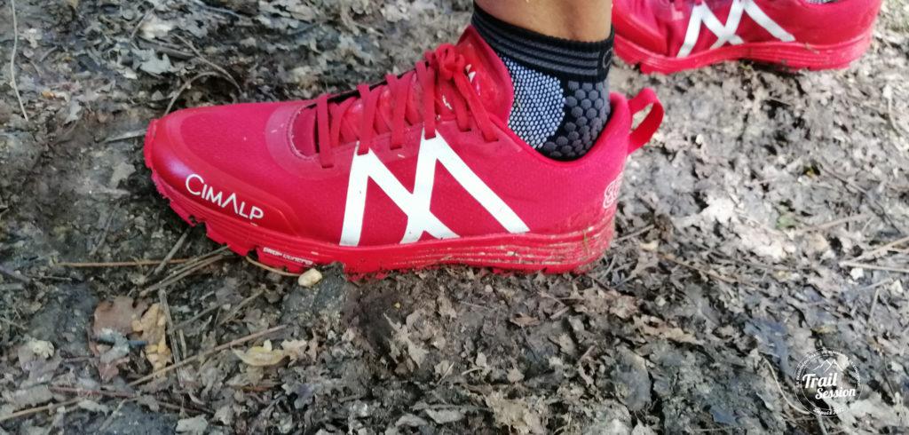 CimAlp 864 Drop Evolution : chaussure sur terrain boueux
