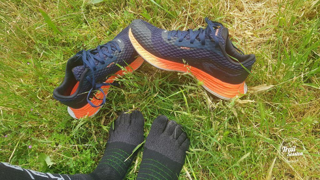 KDplus et chaussettes 5 doigts : Kiprun KDplus