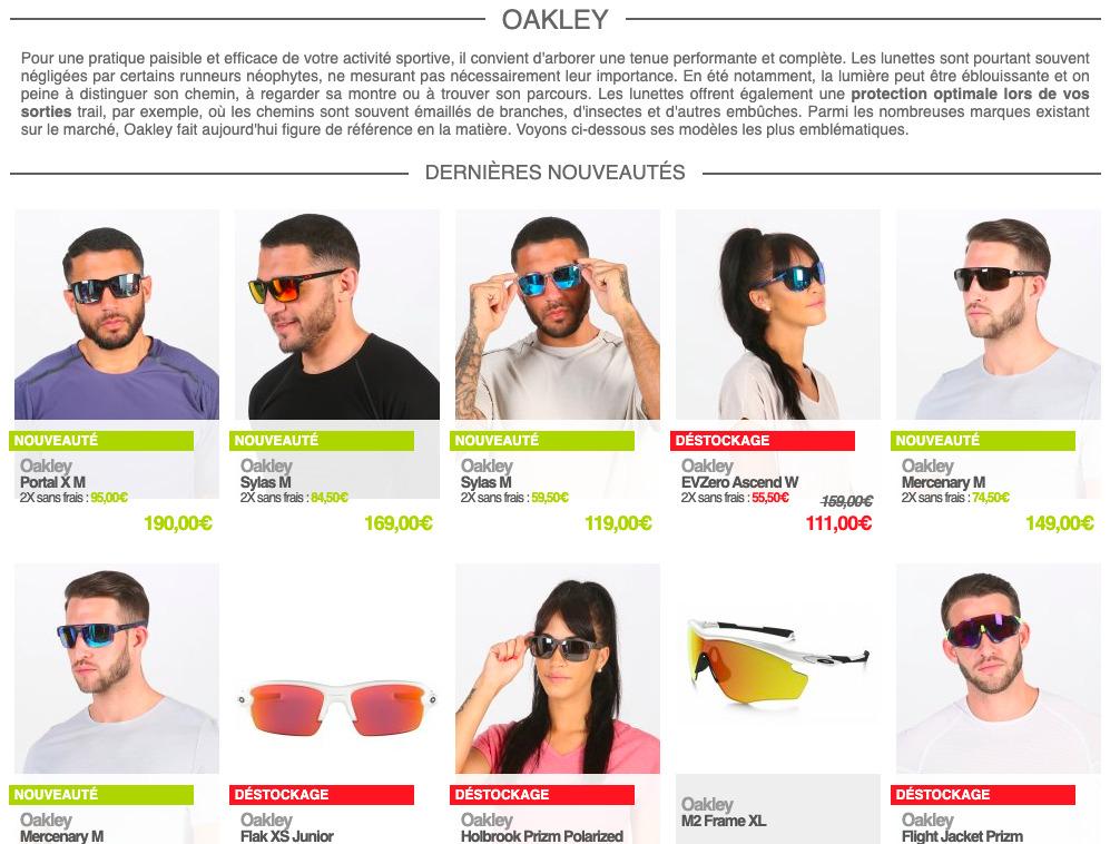 Oakley sur i-Run.fr