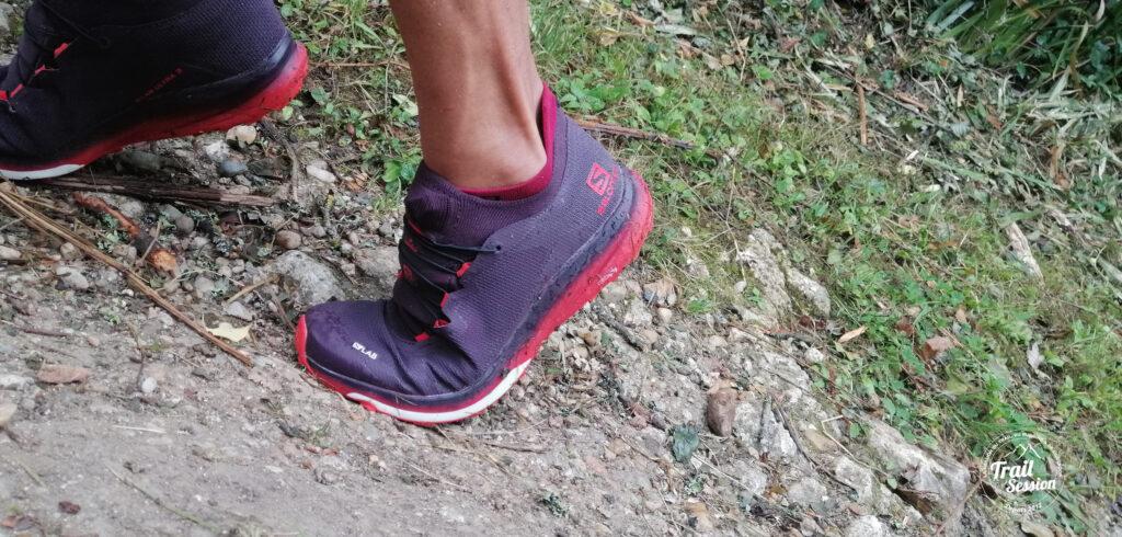 photo chaussures SALOMON S-LAB ULTRA 3 système Contagrip accroche
