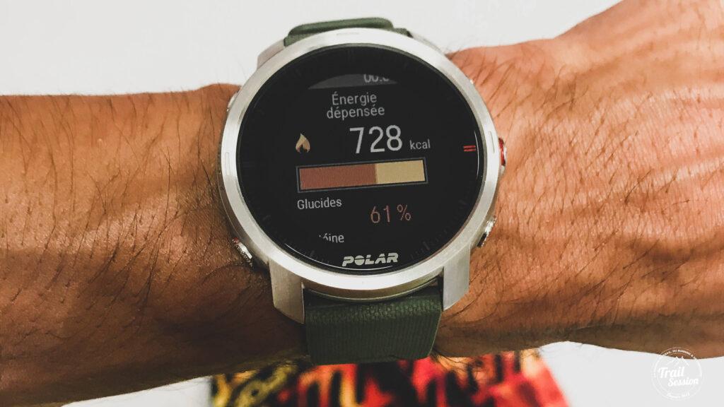 Polar Grit X : Fuel Wise - Vue depuis la montre