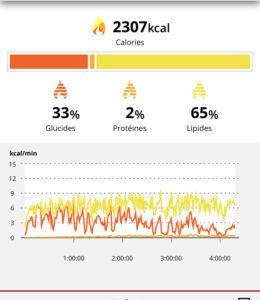 Polar Grit X : Vue application mobile