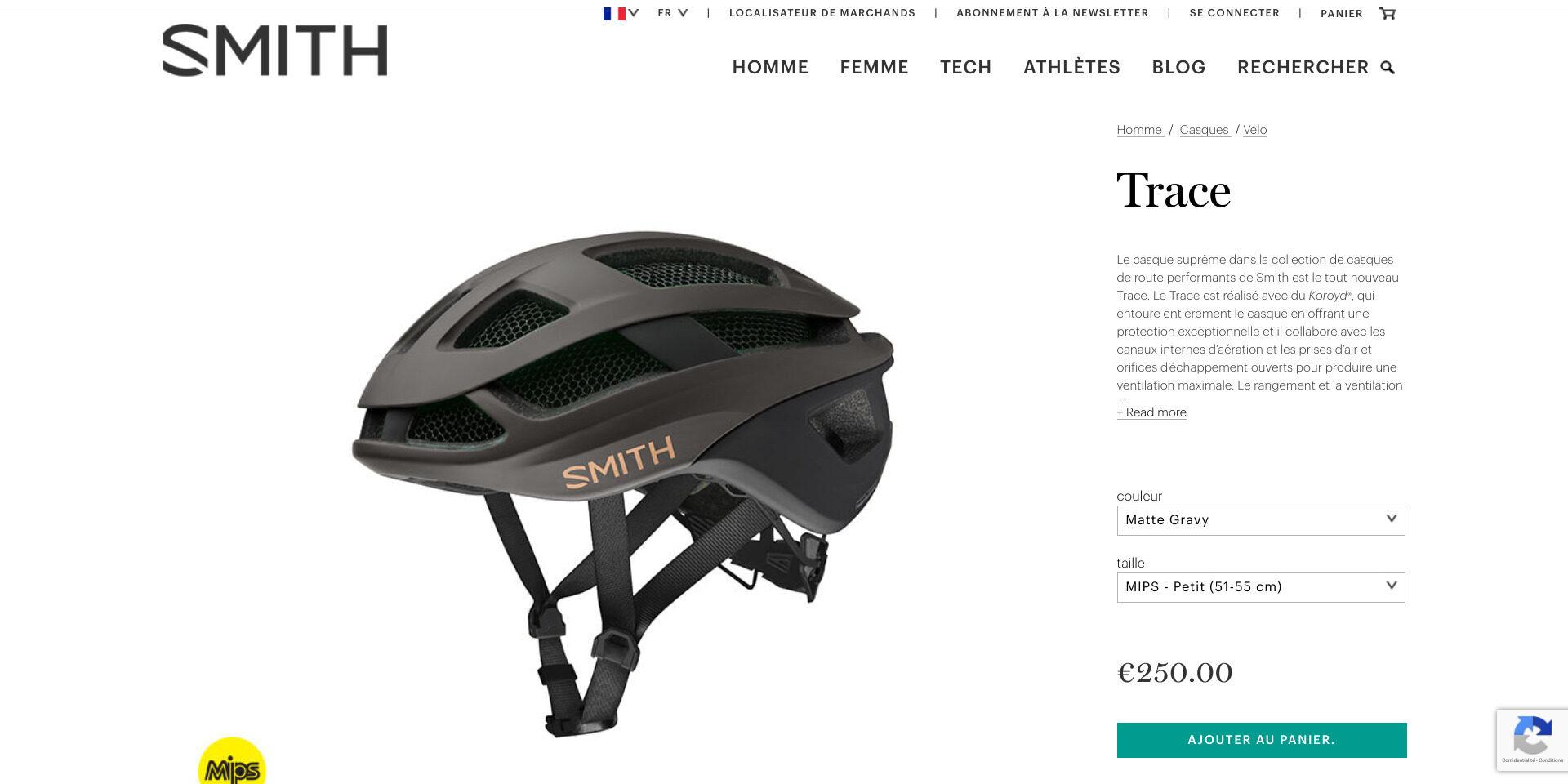 casque Trace sur le site de SMITH