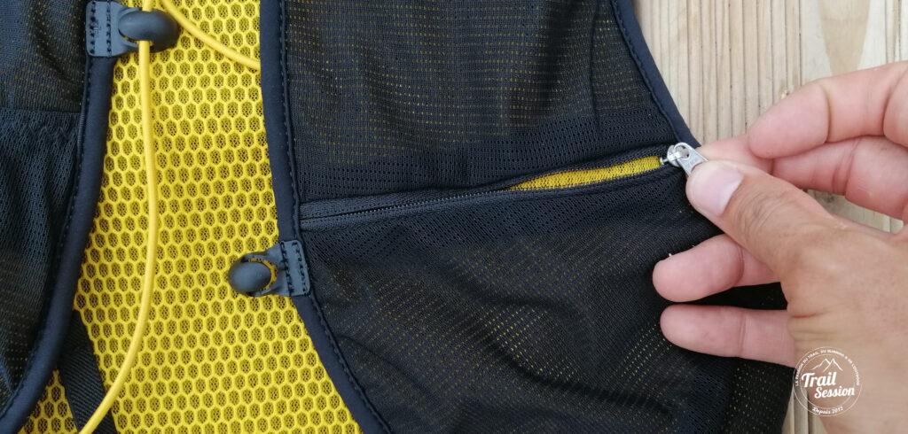 zoom sur poche zip fermeture éclair