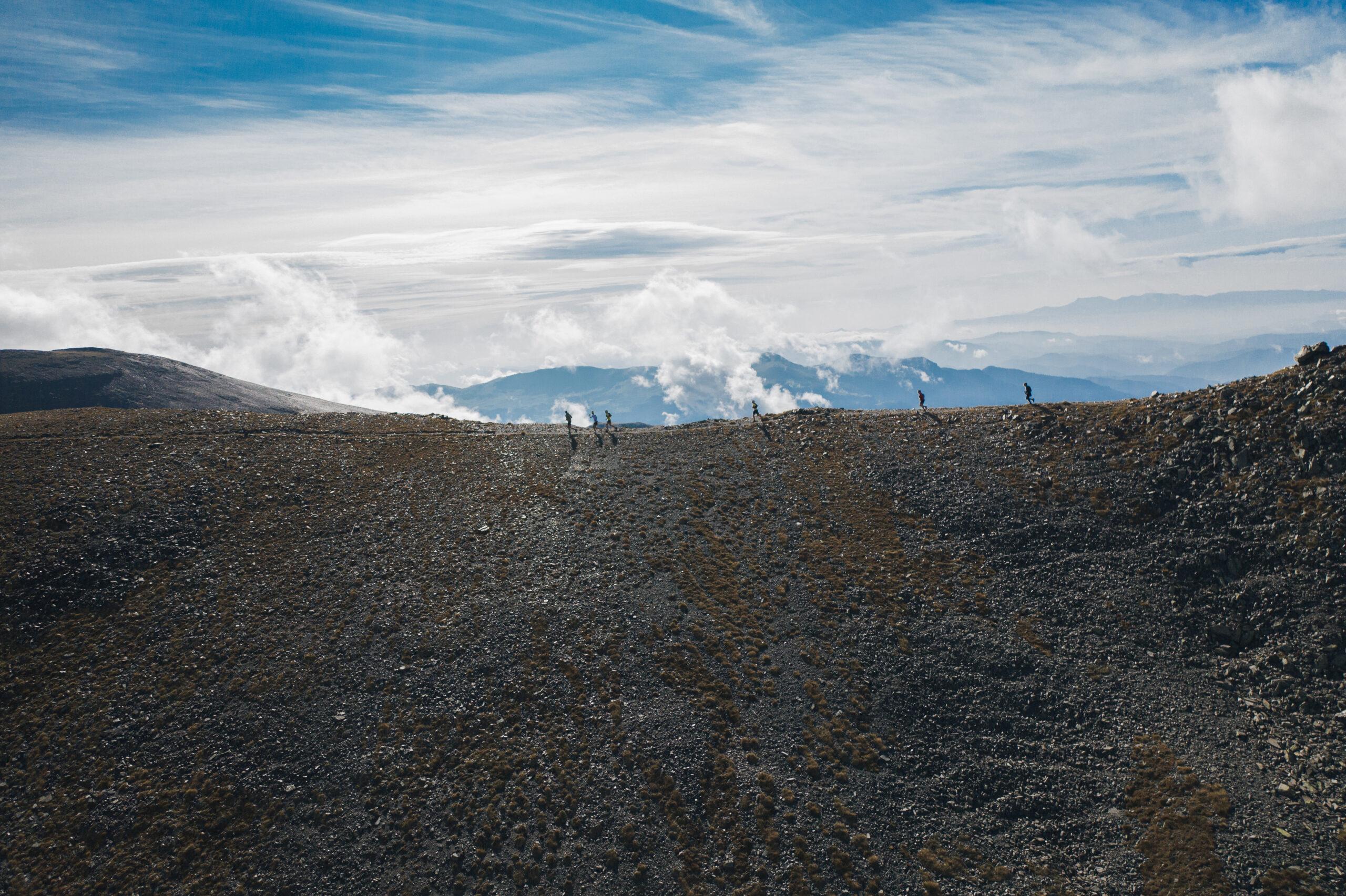 Trail sur les crêtes en station Puigmal