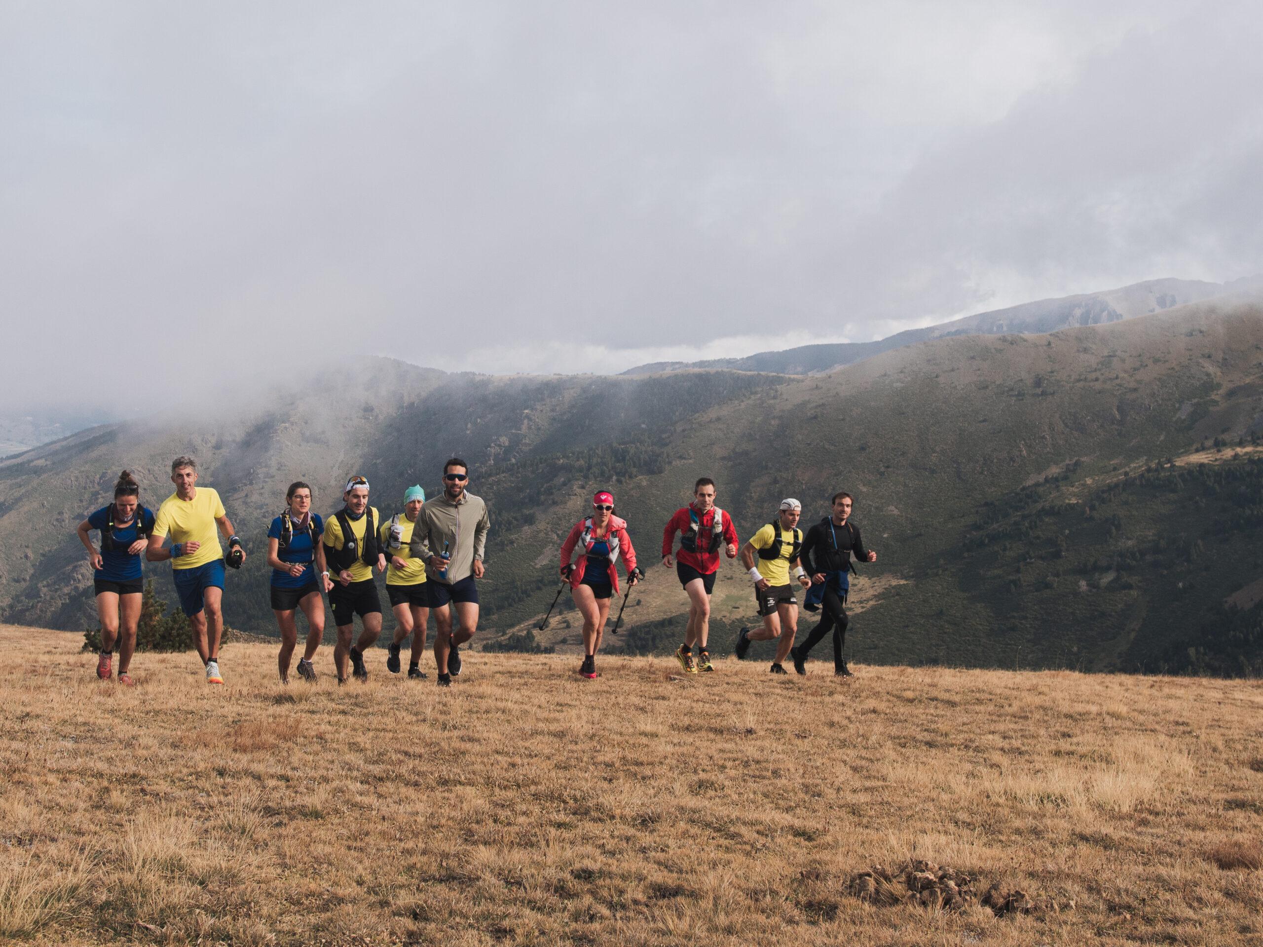 Sortie de groupe en trail running sur la station Puigmal