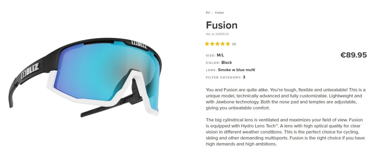 Bliz Eyewear Fusion