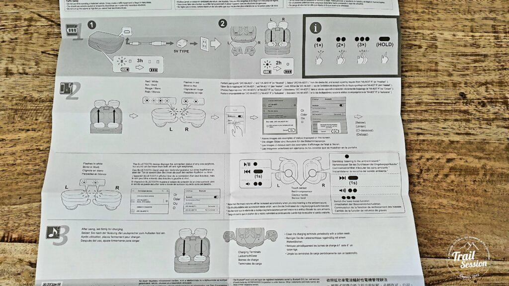 Écouteurs HA-AE5T : mode d'emploi