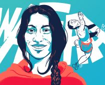 Wafaa Amer : la grimpeuse italo-égyptienne